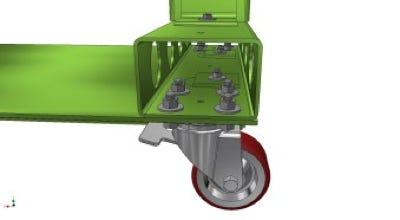 Caster beam modular end view