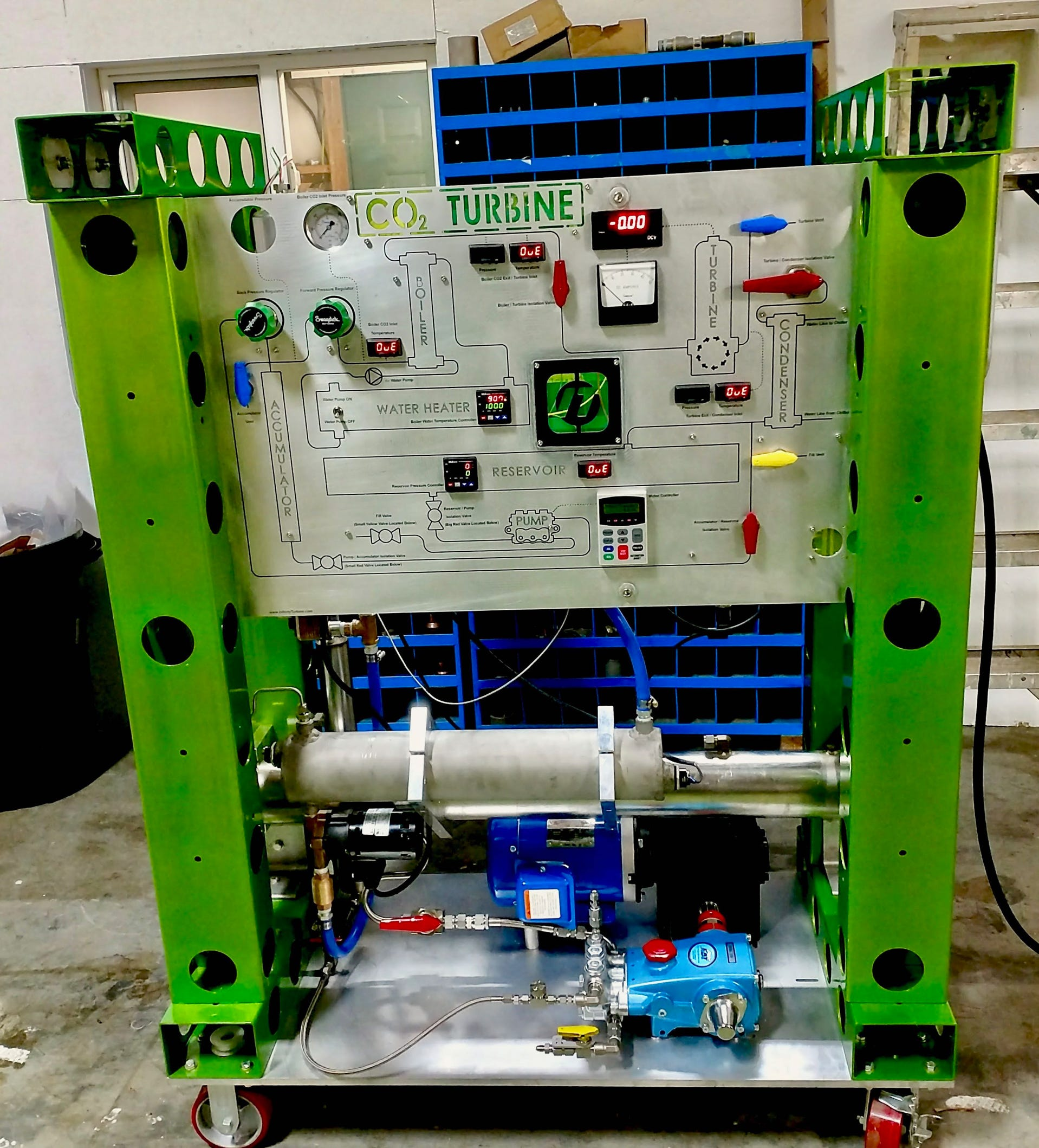 CO2 Phase Change Demonstrator Front View