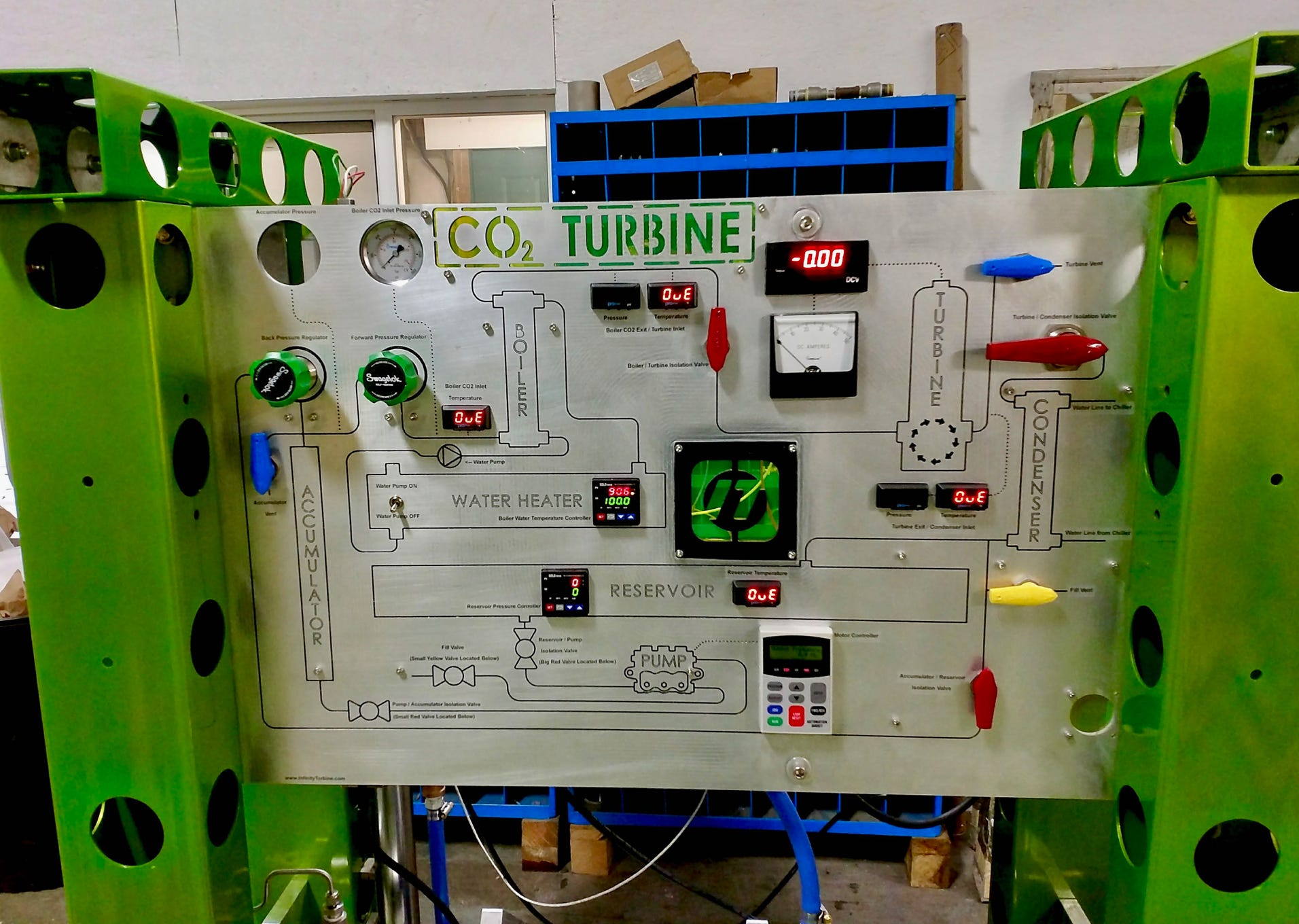 CO2 Phase Change Demonstrator for Supercritical CO2 expanders, gas to liquids, and Nafion experiments converting CO2 to alcohol
