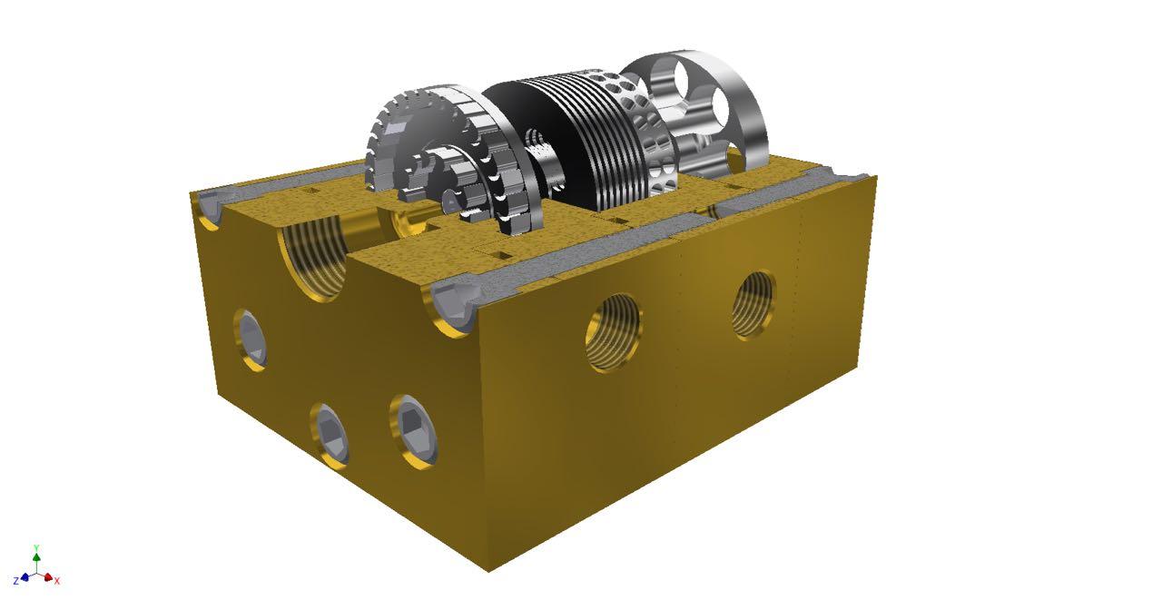 Infinity Turbine impulse turbine with common shaft feed pump and cavitation pump