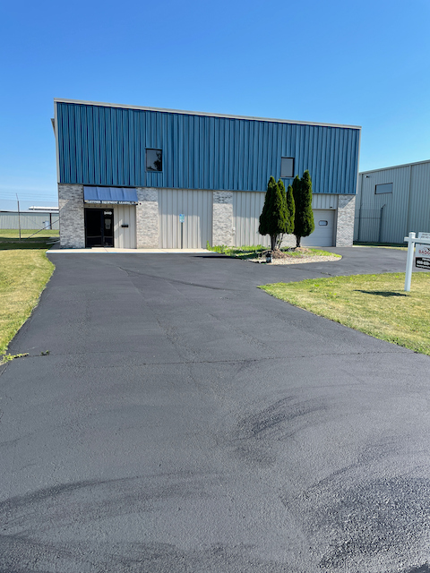 Hangar for sale at KMSN south ramp. 60 x 60 with 16 ft. height bifold hangar door. Includes professional office with restroom and ADA compliant. In-floor heating (including ramp). Air conditioned office. Parking resurfaced with sealant on 6 June 2021.