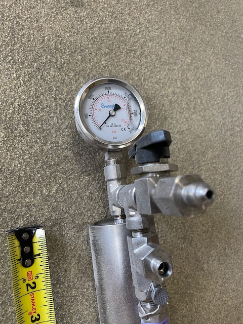 Surplus High Pressure Pipe for CO2 with Fittings