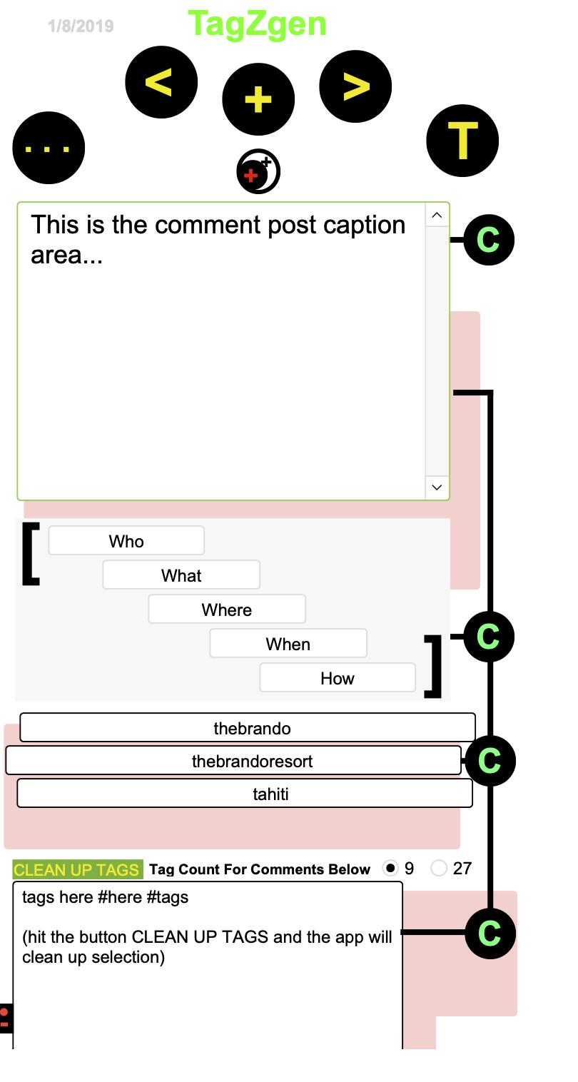 FileMaker TagzGen for InstaGram Captions